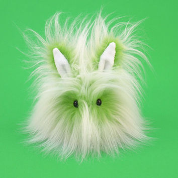 Stuffed Animal Stuffed Bunny Cute Plush Toy Bunny Kawaii Plushie Lime Fizz the Green and White Bunny Rabbit Small 4x5 Inch Stocking Stuffer