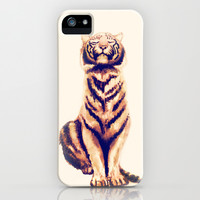 Zen Tiger iPhone & iPod Case by Cedric S Touati