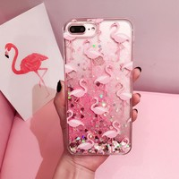 KISSCASE Glitter Phone Cases For iPhone 6 6s 7 Plus 5 SE Case Silicone Cover Case For iPhone 6 6s 5s SE Dynamic Girly Coque Capa