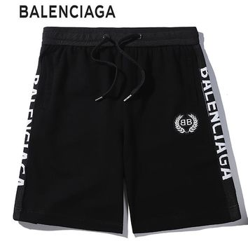 BALENCIAGA Summer Classic Popular Women Men Casual Sports Running Shorts