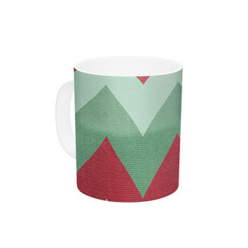 "Catherine McDonald ""Holiday Chevrons"" Ceramic Coffee Mug"