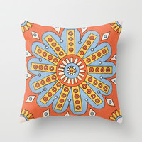 Summer Blossom Throw Pillow by PeriwinklePeacoat | Society6