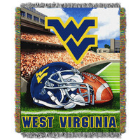 "West Virginia College """"Home Field Advantage"""" 48x60 Tapestry Throw"
