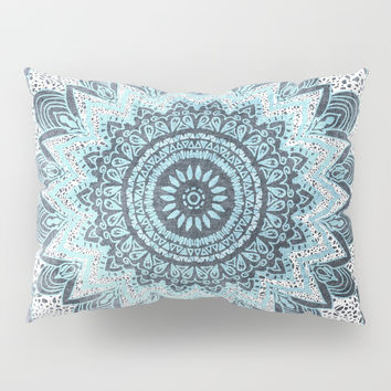 BOHOCHIC MANDALA IN BLUE Pillow Sham by nika