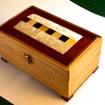 Wood Box with Tile Lid