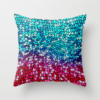 THINK TEAL AND PINK Throw Pillow by catspaws