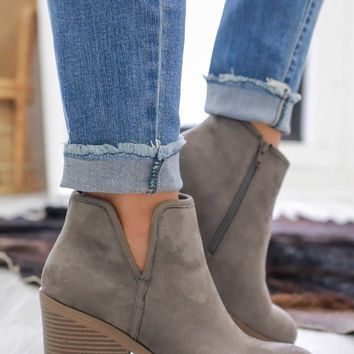 My Prerogative Booties - Charcoal