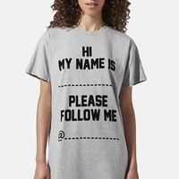 Ashish x Topshop 'Please Follow Me…' T-Shirt Dress