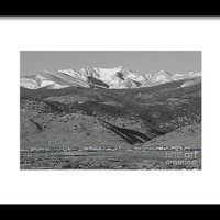 Front Range View North Boulder Colorado Framed Print