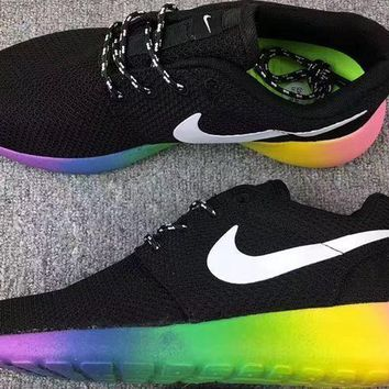 NIKE Trending Fashion Casual Sports Running Shoes Rainbow Color Soles-1
