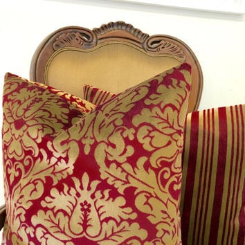 Dark Red Velvet Pillow Cover, Velvet Pillow, Throw Pillow, Red Pillow, Burgundy Pillow, Red Velvet Couch Throw Cushion Pillow Case Covers