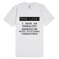 true life-Unisex White T-Shirt