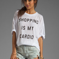 Wildfox Couture Shopping is My Cardio Cobain T in Clean White from REVOLVEclothing.com