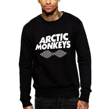 Hip Hop Fashion Men Crewneck Hoodies Arctic Monkey Sound Wave Sweatshirt hipster Streetwear Long Sleeve Pullover Punk Rock