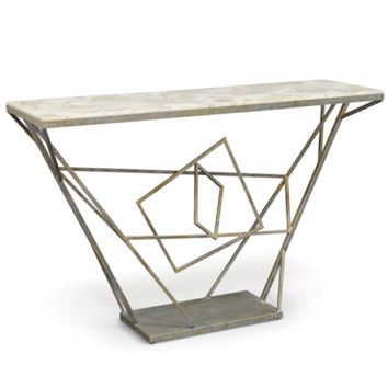 Palecek Loren Fossilized Clam Console Table