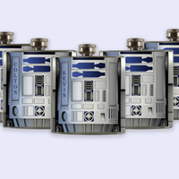 R2-D2, r2d2, starwars Groomsmen Flask Set,  custom Flask Set