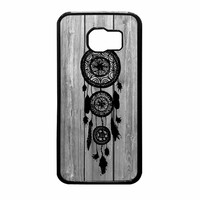 Hipster Vintage Black Dreamcatcher On Gray Wood Samsung Galaxy S6 Case