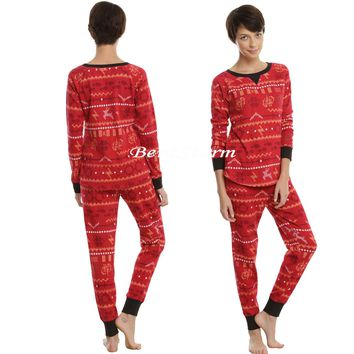 Licensed cool Harry Potter Hogwarts Wand Snitch Owl Thermal Long Sleeve Shirt Legging Pajamas