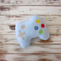 Soft Baby Toy, Game Controller - Plush - Video Game Controller, Toddler Toy - Stuffed Toys - Blue