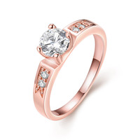 Tapered Pave 18k Rose Gold Plated Ring