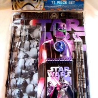 Disney Star Wars 11 Piece Stationary School Supplies Set