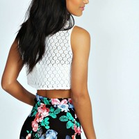 Alicia Floral Textured Knicker Shorts