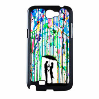 Love Song Romantic In The Rain Paint Samsung Galaxy Note 2 Case