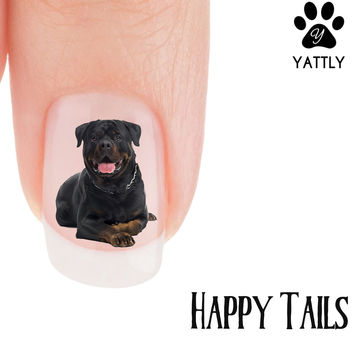 "Rottweiler ""Happy tails"" Nail Art ( NOW 50% MORE FREE)"