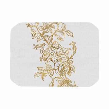 "888 Design ""Golden Vintage Rose"" Floral Digital Place Mat"