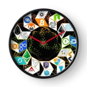 'The crypto world' Clock by jiggabola