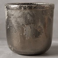 Metallic Crackle Herb Pot by Anthropologie