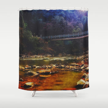 River Crossing Shower Curtain by DuckyB (Brandi)