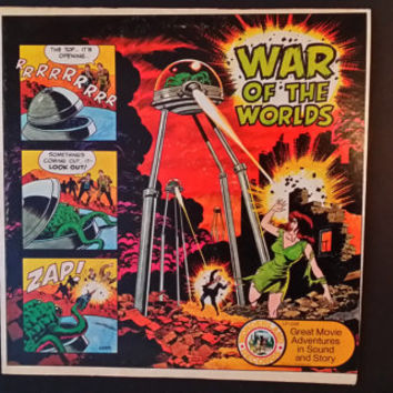 War of the Worlds Great Movie Adventures in Sound and Story Record Wonderland Records 1974 AA Records HG Wells