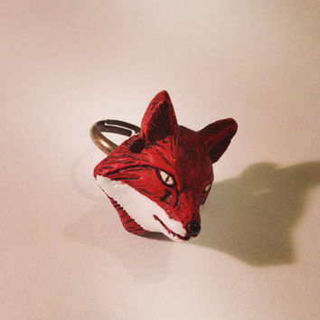 Winter Fox Ring  by RabbitJewellery on Etsy