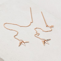 Sunburst Thread Earrings - Rose Gold