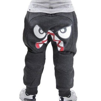Boys Pants Trousers Cartoon Cute Cotton Leggings Kids Girls Clothes Age 3-7Y = 1930467780