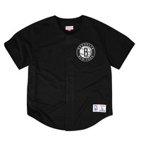 Mitchell & Ness NBA Brookyln Nets Mesh Front Button Jersey
