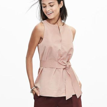 Banana Republic Womens Belted Sleeveless Top