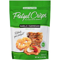 Pretzel Crisps Garlic Parmesan 7.2 oz Bags - Pack of 12