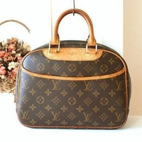 Tagre™ Louis Vuitton Bag Trouville monogram Vintage handbag France Authentic Tote handbag