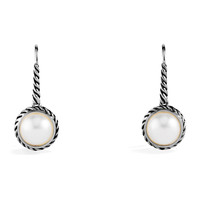 Cable Pearl Drop Earrings - David Yurman