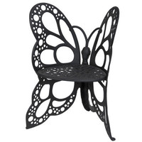 FlowerHouse Butterfly Cast Aluminum Chair FHBC205 - Black | Meijer.com