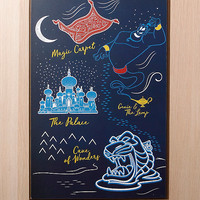 Disney Aladdin Map Wood Wall Art