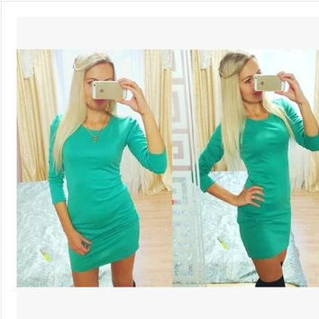 Causal Fashion Stylish Casual One Piece Dress = 4806592004