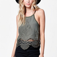 LA Hearts Crochet Embroidered Tank Top at PacSun.com