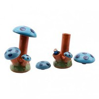 Magic Mushroom Ceramic Stealth Water Pipe - 12cm - Grasscity.com