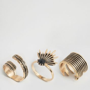 ALDO Araliri Multipack Rings at asos.com