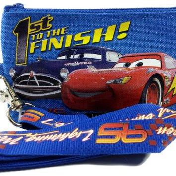 Disney Pixar Cars Lightning McQueen Lanyard with Detachable Coin Pouch  Blue