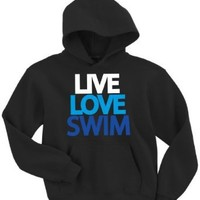Live Love Swim Hooded Sweatshirt