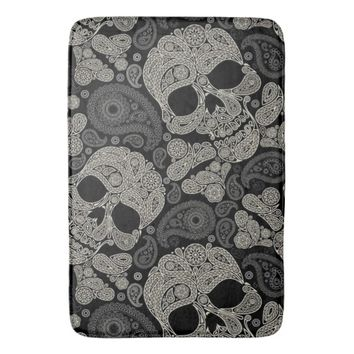 Sugar Skull Crossbones Pattern Bath Mat